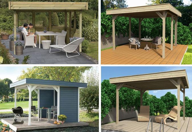 Gartenpavillon mit Flachdach