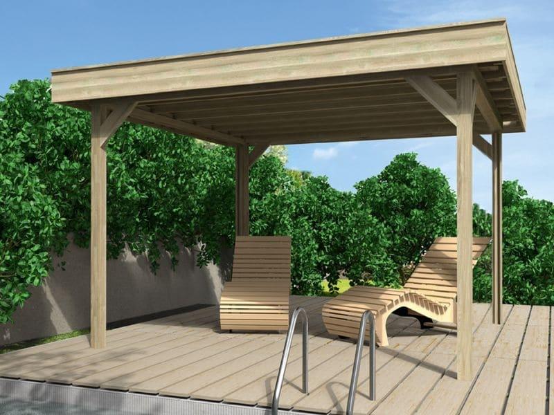 Wolff finnhaus Gartenpavillon mit Flachdach