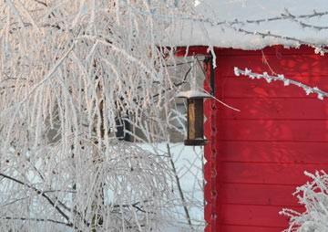 Gartenhaus winterfest