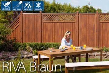 Sichtschutzzaun Kunststoff - Longlife Riva braun