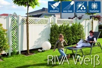 Sichtschutzzaun Longlife Riva Weiss Kunststoff Gartenzaun Online