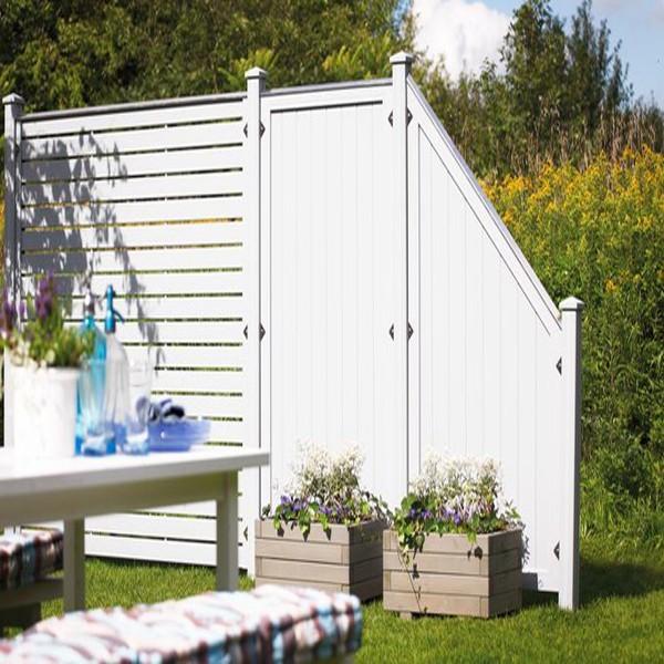 TraumGarten Sichtschutzzaun Longlife Riva Anschluss weiß - 90 x 180 auf 90 cm