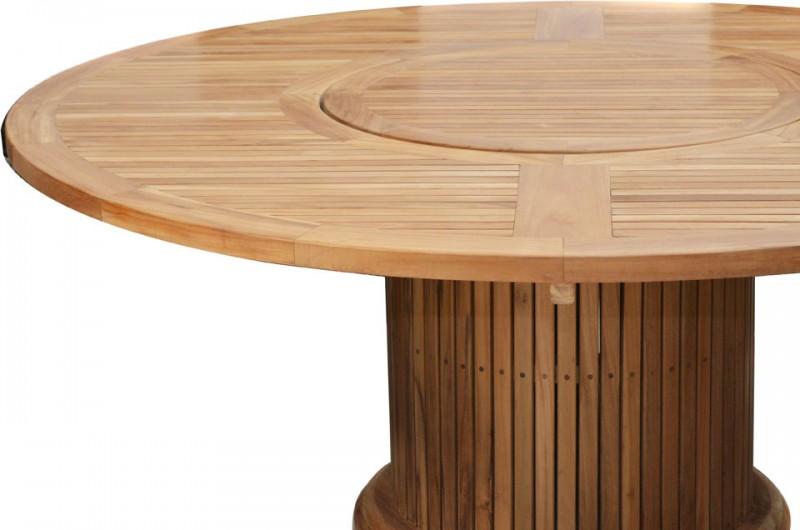 Ploss Gartenmöbel Tisch rund Phoenix Premium-Teak 160 x 76 cm