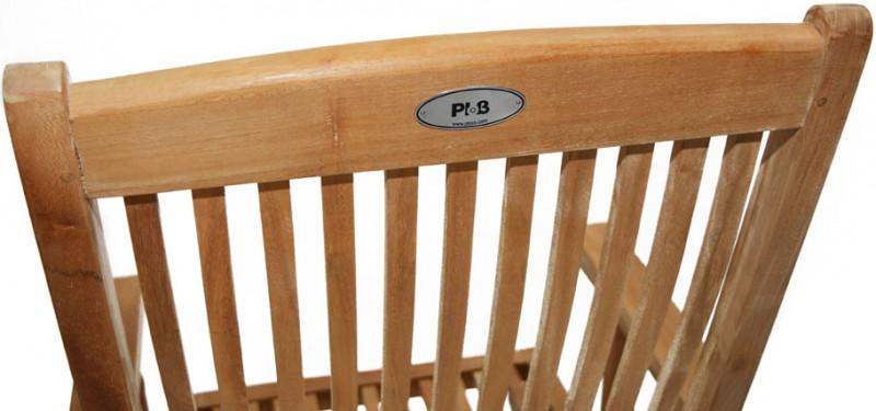 Ploss Gartenmöbel Klappstuhl Arlington mit Armlehnen aus Premium-Teak 55 x 61 x 102 cm