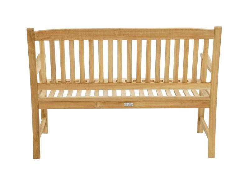Ploss Gartenmöbel Landhausbank Gartenbank New Haven aus Premium-Teak  130 x 64 x 95 cm  2-Sitzer