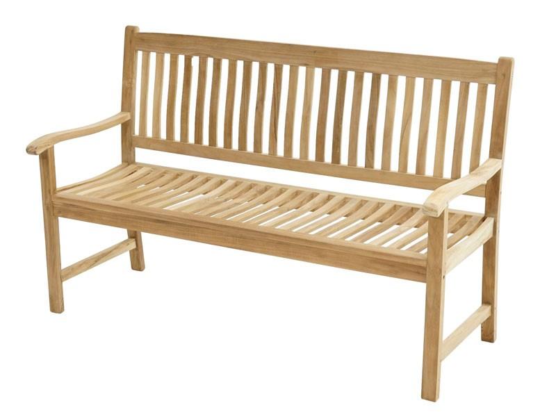 Ploss Gartenmöbel Landhausbank Gartenbank New Haven aus Premium-Teak  150 x 64 x 95 cm  3-Sitzer