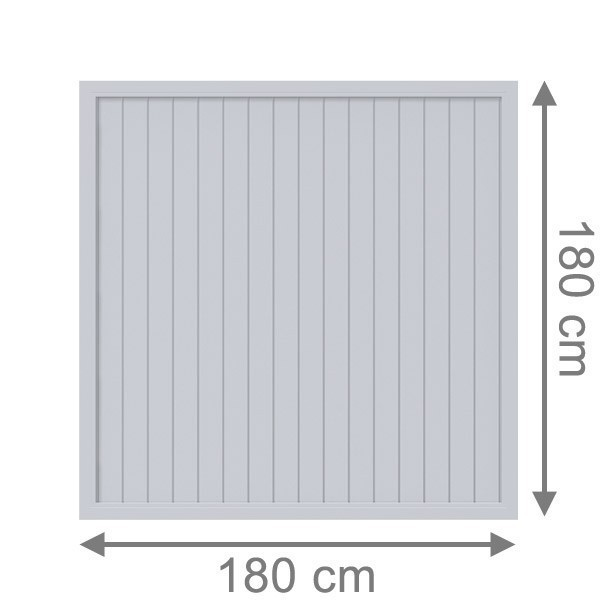 TraumGarten Sichtschutzzaun Longlife Riva Rechteck grau - 180 x 180 cm