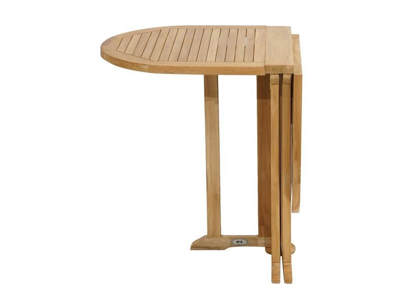 Ploss Gartenmöbel Balkontisch Vancouver aus Premium-Teak beidseitig klappbar  120 x 60 75 cm