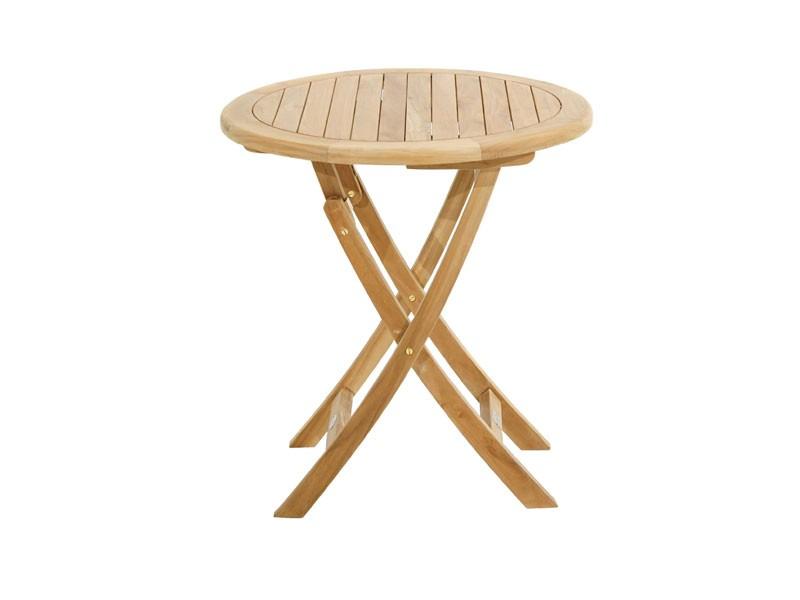 Ploss Gartenmöbel Klapptisch Cleveland aus Premium-Teak  70 x 75 cm rund