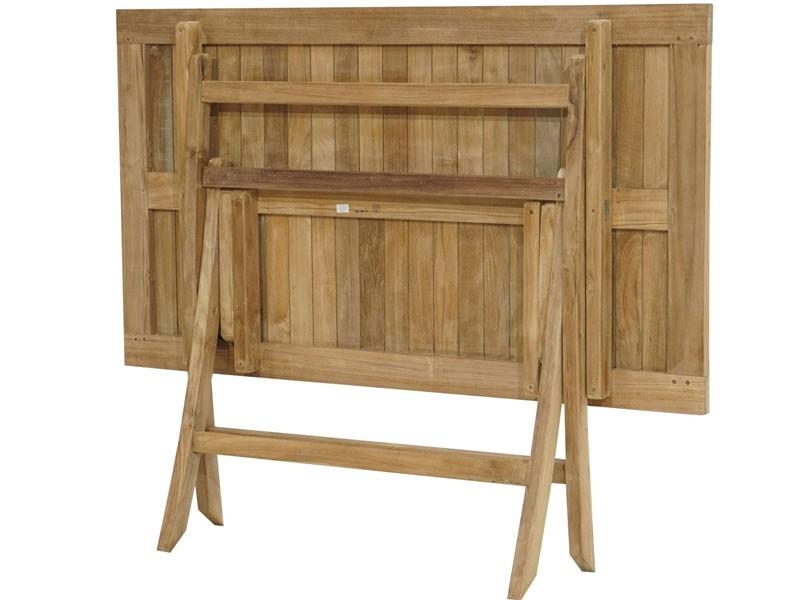 Ploss Gartenmöbel Klapptisch York aus Premium-Teak 100 x 60 x 75 cm rechteckig