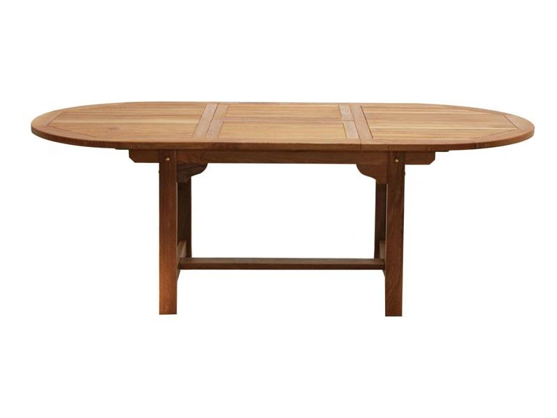 Ploss Gartenmöbel Auszugtisch Gartentisch Louisiana  120 (170) x 120 x 75 cm  oval