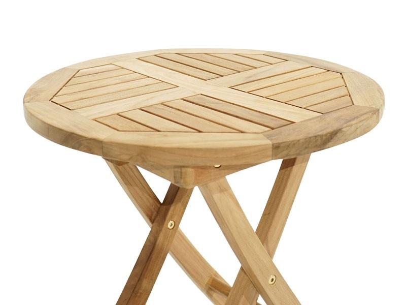Ploss Gartenmöbel Beistelltisch Tennesee aus Premium-Teak  50 x 50  rund