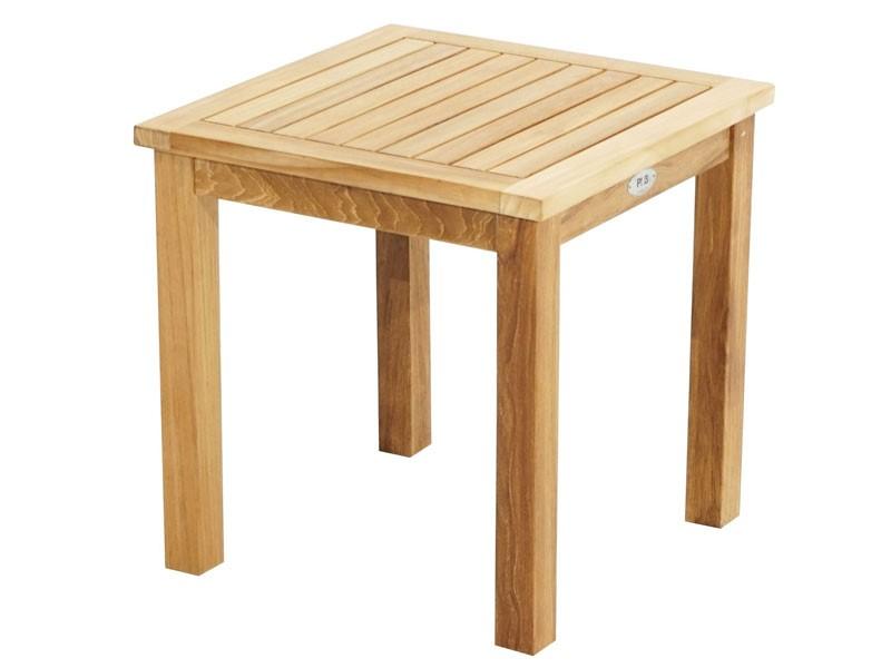 Ploss Gartenmöbel Beistelltisch aus Premium-Teak  50 x 50 x 50 cm  eckig