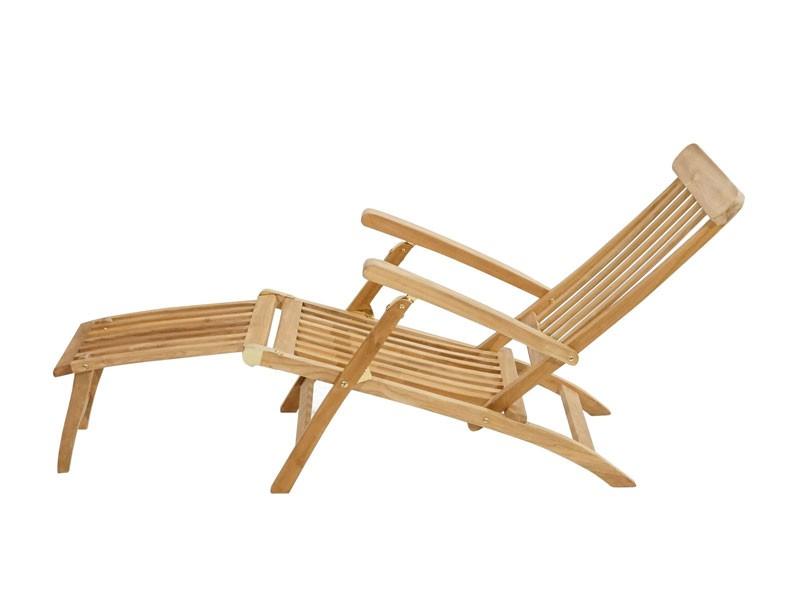 Ploss Gartenmöbel Deckchair Gartenliege Titanic aus Premium-Teak  166 x 60 x 96 cm