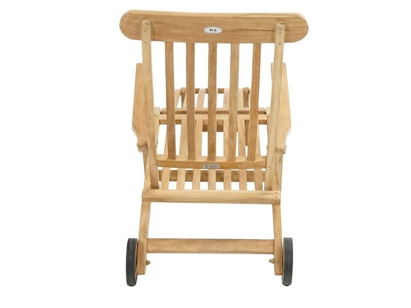 Ploss Gartenmöbel Deckchair Gartenliege Pamir aus Premium-Teak  171 x 60 x 96 cm