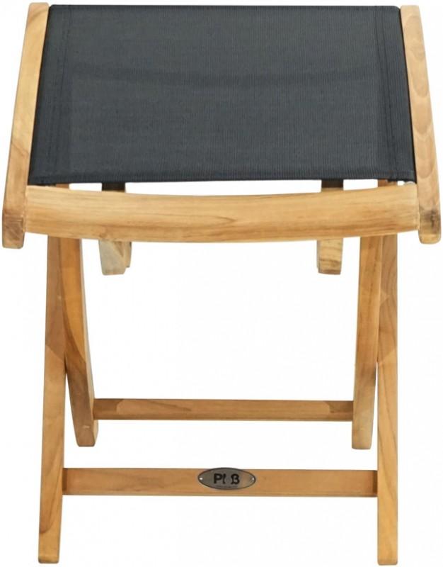 Ploss Gartenmöbel Fusshocker Fairchild mit Textilbespannung  47 x 42 x 47 cm