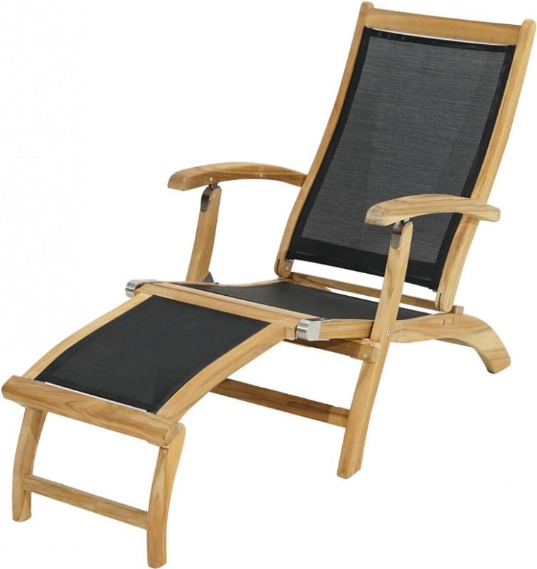Ploss Gartenmöbel Deckchair Gartenliege Fairchild mit Textilbespannung und abnehmbares Fussteil  137 x 59 x 92 cm