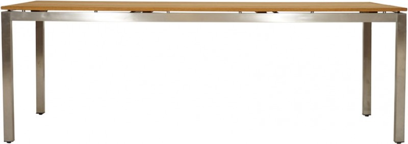 Ploss Gartenmöbel Gartentisch Brooklyn Teakholz Edelstahlgestell rechteckig  220 x 100 x 75 cm