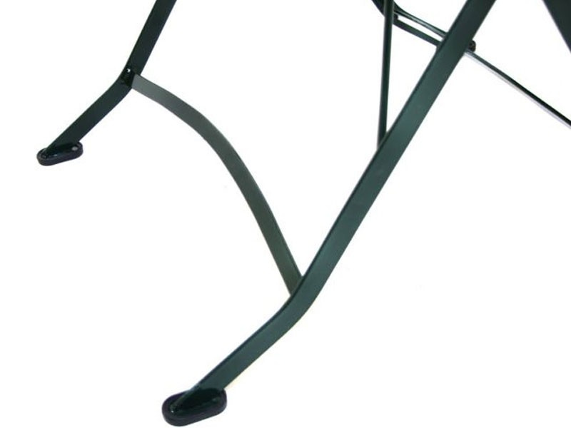 Ploss Gartenmöbel Klapptisch Gartentisch Verona aus Teakholz und Eisengestell  80 x 80 x 75 cm