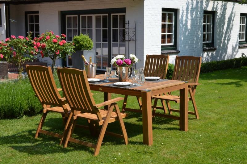 Ploss Gartenmöbel Klappsessel Hochlehner Halmstadt aus Akazie 5-fach-verstellbar  60 x 70 x 110 cm