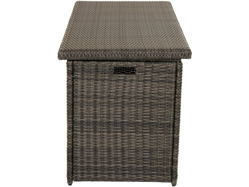 Ploss Gartenmöbel Kissenbox Rocking aus Polyrattangeflecht  145 x 58 x 73 cm  Farbe: grau-braun-meliert
