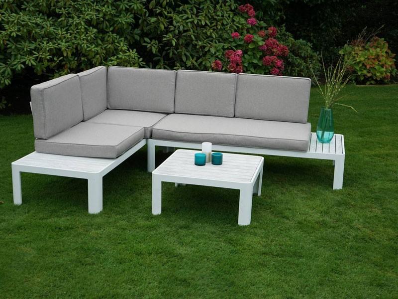 Ploss Gartenmöbel Aluminum-Ecklounge Denver inkl. Sitz- und Rückenkissen  Set