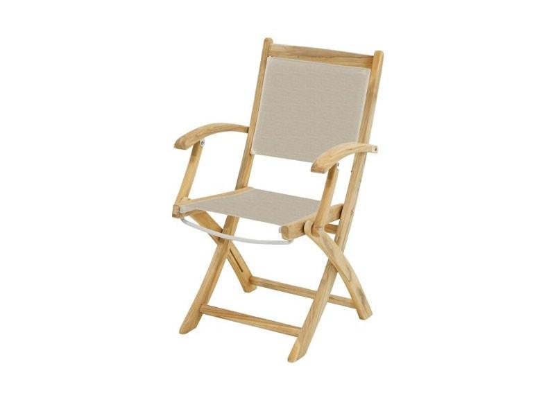 Ploss Gartenmöbel 2er Set Klappstuhl Richmond mit Armlehne und Textilbespannung  57 x 59 x 91 cm