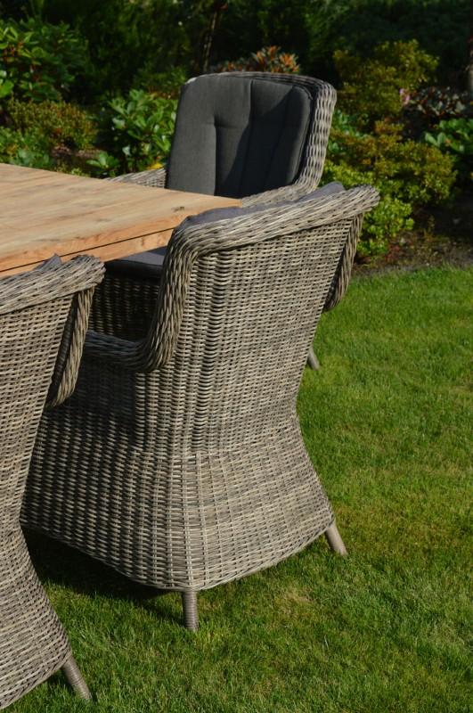 Ploss Gartenmöbel 2er Set Dining-Sessel Miranda Polyrattangeflecht  60 x 73 x 94 cm  Farbe: grau-braun-meliert