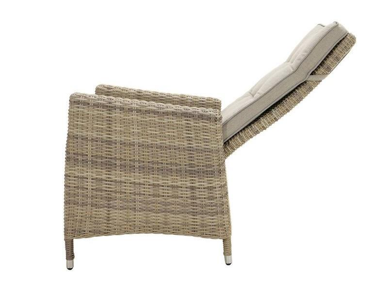 Ploss Gartenmöbel 2er Set Dining-Sessel Sahara Polyrattangeflecht  60 x 73 x 94 cm  Farbe: light-grey (lichtgrau)