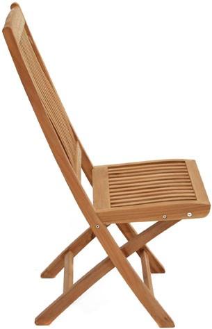 Ploss Gartenmöbel Klappstuhl Arlington aus Premium-Teak 46 x 61 x 102 cm - 2er Set