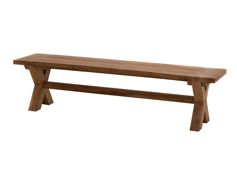 Ploss Gartenmöbel Rustikal Lincoln Set in Old Teak - 220er Tisch inkl. Gartenbank