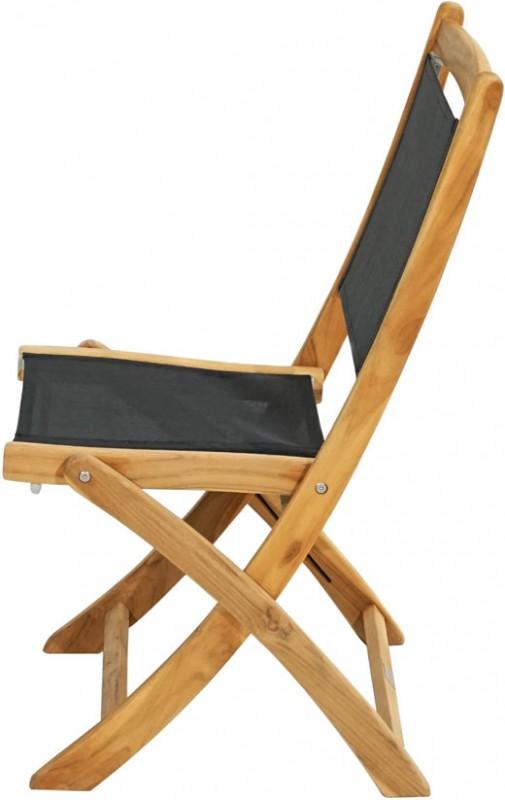 Ploss Gartenmöbel Set 5-teilig - 4 x Klappsessel Fairchild ohne Armlehne und 1x Klapptisch Cleveland