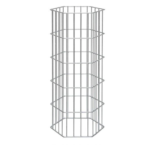 Gabionensäule ONYX - silbergrau verzinkt  - Höhe: 1000 mm