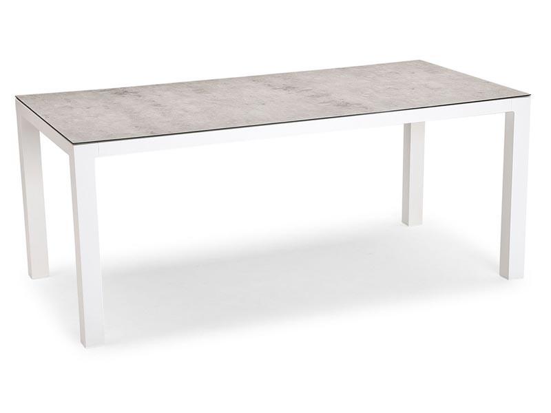 Best Tisch Houston 160x90cm weiss/silber
