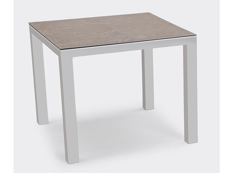 Best Tisch Houston 90x90cm silber/anthrazit