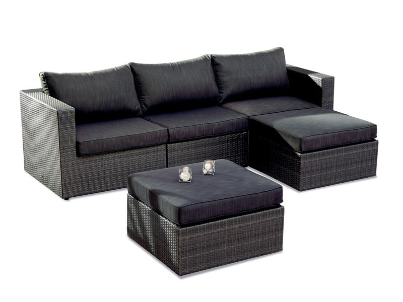 Best Rattan Lounge-Set Aruba 5-teilig inkl. Polsterauflagen - Stellfläche 240x180 cm