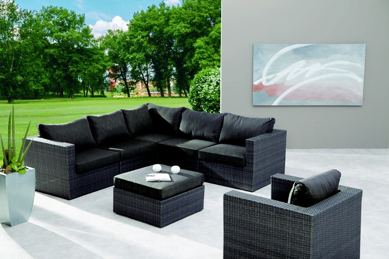 Best Rattan Lounge-Set Aruba 7-teilig inkl. Polsterauflagen - Stellfläche 240x300 cm