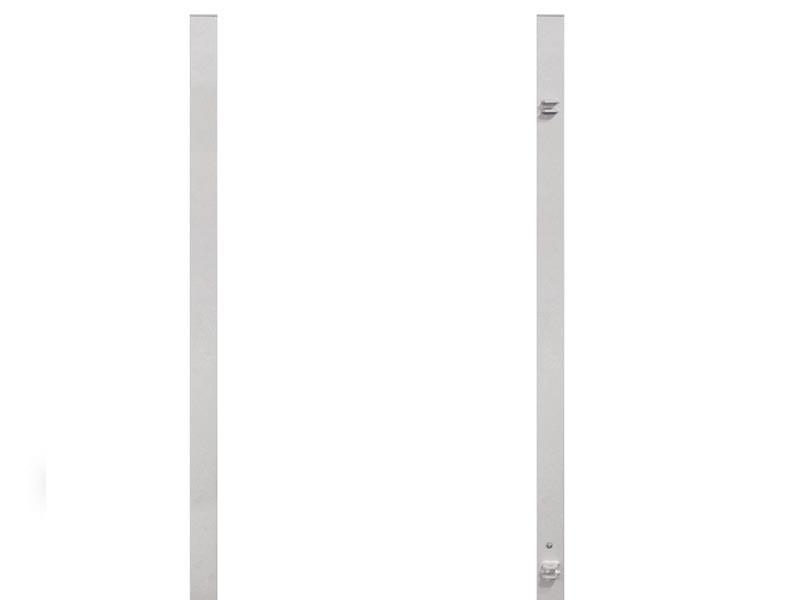 TraumGarten Torpfosten Set für Vorgaten Einzeltor Silber - 8 x 8 x 150 cm