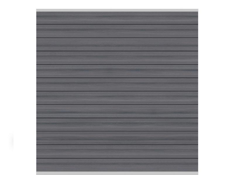 TraumGarten Sichtschutzzaun System WPC XL Platinum Tor DIN rechts anthrazit - 98 x 180 cm