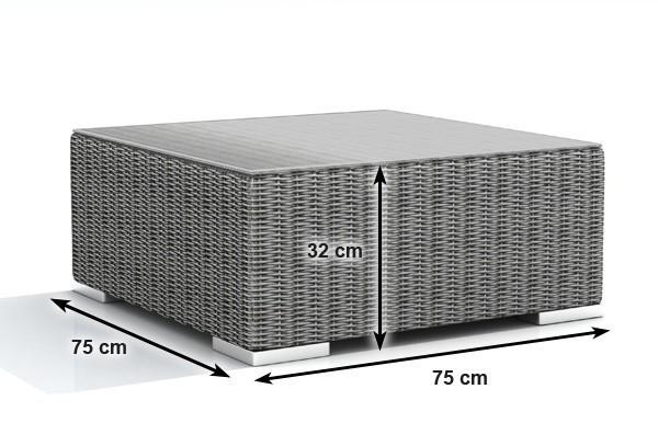 Rattan XXL Loungemöbel Set Espace 0 - 7-teilig - Farbe: grau braun meliert