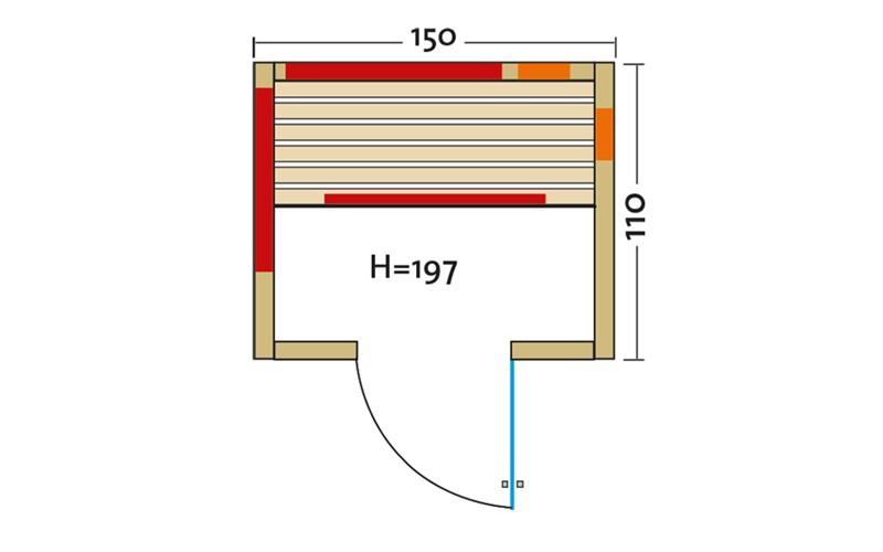 Infrarotkabine Komplettset Fusion Zermatt 150