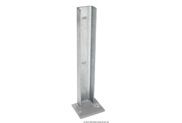 Fußplatte Gabionen-Systeme silbergrau verzinkt