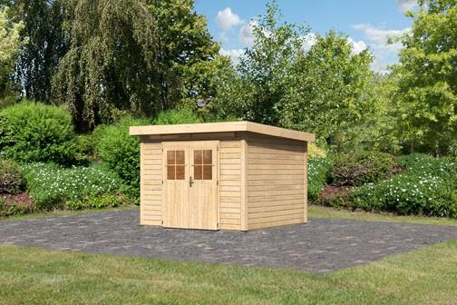 Karibu Holz Gartenhaus Kerpen 3 Farbe: naturbelassen