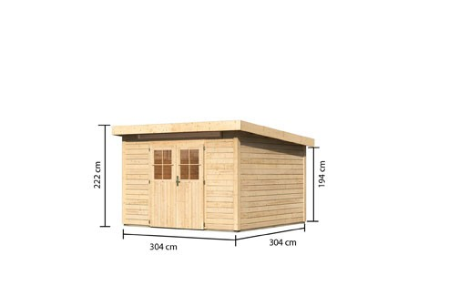 Karibu Holz Gartenhaus Kerpen 4 Farbe: naturbelassen