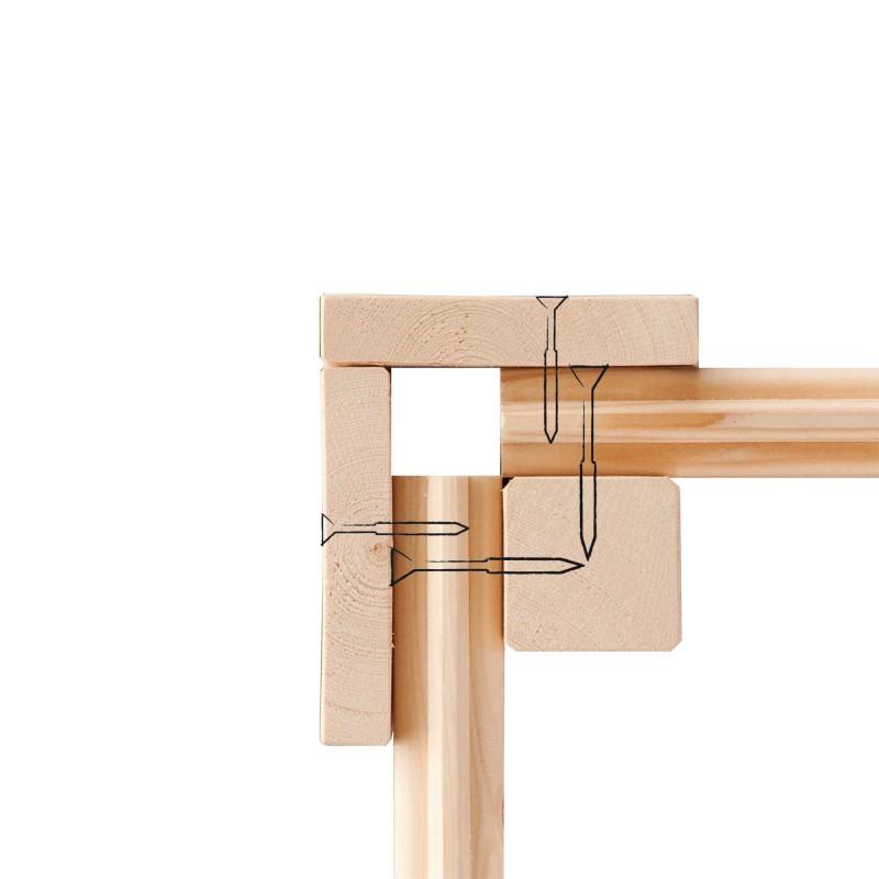 Karibu Holz Gartenhaus Kerpen 2 im Set mit Anbaudach 3,0 m Breite und 28 mm Seiten- und Rückwand Farbe: naturbelassen