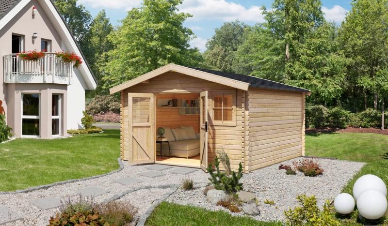 Karibu Holz Gartenhaus  Mühlheim 6 Farbe: naturbelassen
