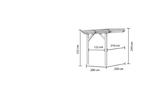 Karibu Terrassenüberdachung Modell 1 Größe A Farbe: Schneeweiß mit Dacheindeckung(10mm Doppelstegplatten)