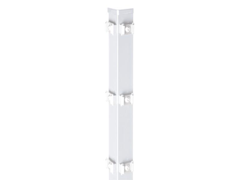 Zaunpfosten Doppelstabgitterzaun Eckpfosten Typ PM Silbergrau  - Länge: 1100 mm