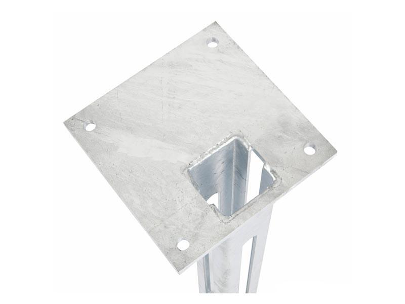 Fußplatte  Doppelstabgitterzaun Torpfosten 80x80 mm