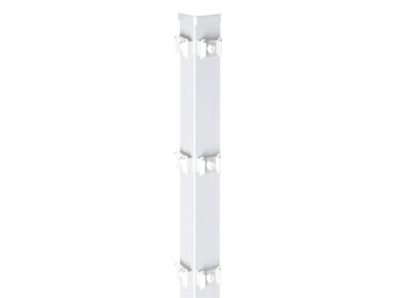 Zaunpfosten Doppelstabgitterzaun Eckpfosten Typ PM Silbergrau  - Länge: 2800 mm